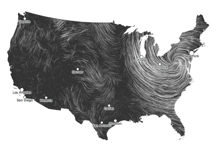 Gorgeous Wind Map