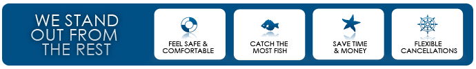 Feel Safe & Comfortable, Catch the Most Fish, Save Time & Money, Flexible Cancellations